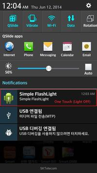Simple FlashLight - One Touch apk screenshot