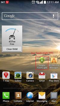 Simple FlashLight - One Touch apk screenshot