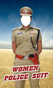 police suit editor of girl poster