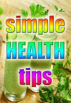 Simple Health Tips poster