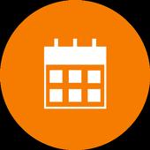 Calendario simple icono