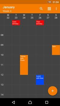 Calendario simple captura de pantalla de la apk