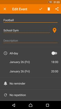 Simple Calendar apk screenshot