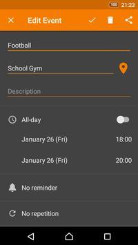 Calendario simple captura de pantalla 5
