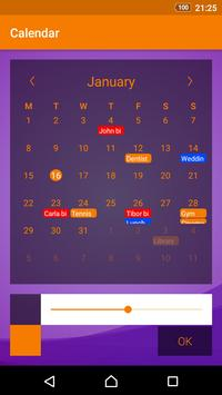 Simple Calendar apk تصوير الشاشة
