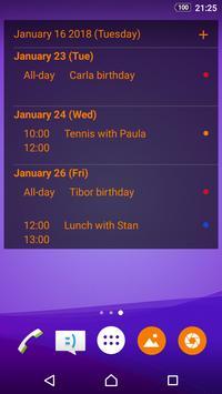 Calendario simple captura de pantalla 7