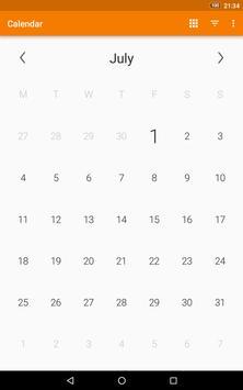 Calendario simple captura de pantalla 9