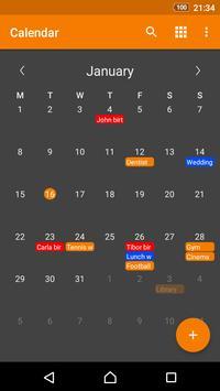Prosty Kalendarz plakat