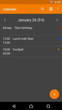 Calendario simple captura de pantalla 2