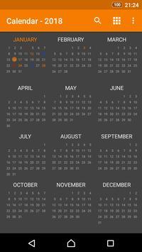 Calendario simple captura de pantalla 3
