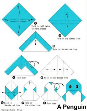 Simple origami instructions poster