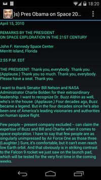 )s) Pres Obama on Space 2010 poster