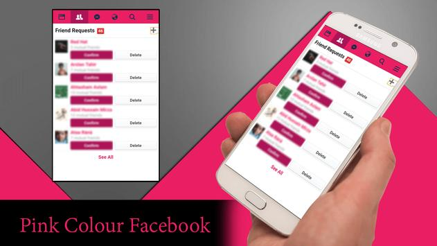 Pink Theme for Facebook الملصق