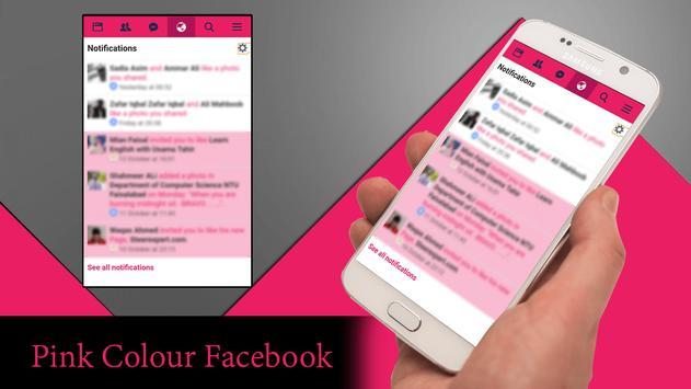 Pink Theme for Facebook تصوير الشاشة 1