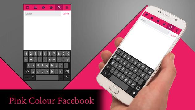 Pink Theme for Facebook تصوير الشاشة 2