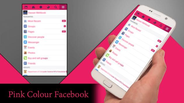 Pink Theme for Facebook تصوير الشاشة 3
