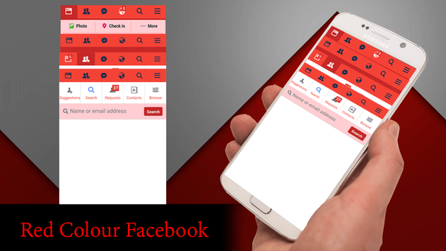 Red Theme For Facebook screenshot 3
