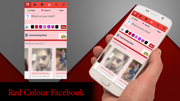 Red Theme For Facebook poster