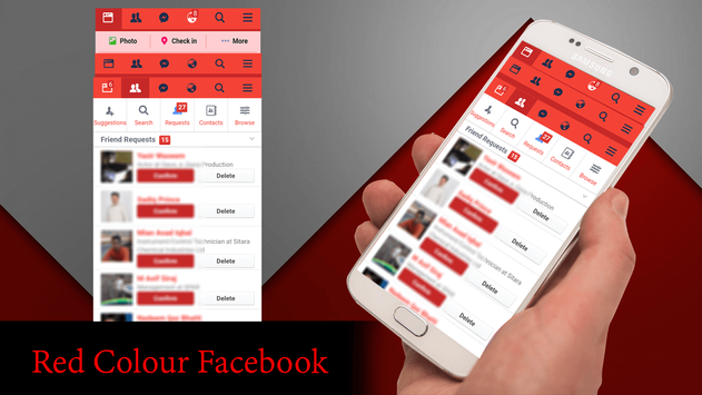 Red Theme For Facebook screenshot 1