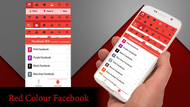 Red Theme For Facebook screenshot 4