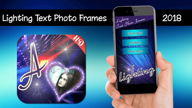 Lighting Text Photo Frames 2018 poster