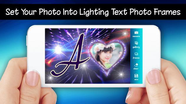 Lighting Text Photo Frames 2018 screenshot 1
