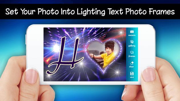 Lighting Text Photo Frames 2018 screenshot 2