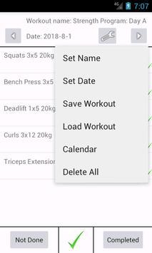 sg journal workout log screenshot 3