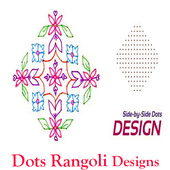 Simple Rangoli Designs with Dots Easy Step by Step icon