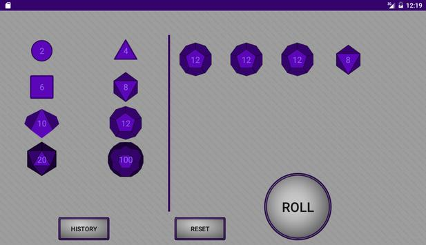 Simple RPG Dice Roller apk screenshot