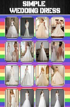 Wedding Dress Simple Ideas poster