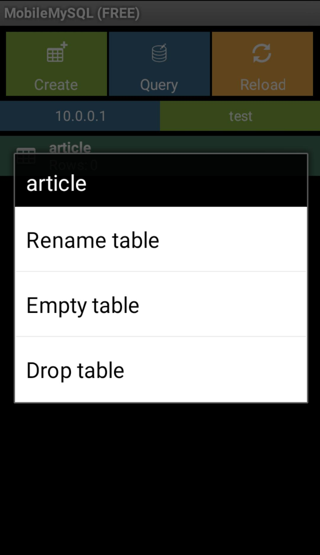 Mobile MySQL Manager (Free) for Android - APK Download