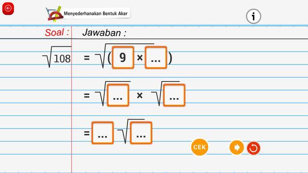 Matematika SMA : Akar dan Pangkat screenshot 6