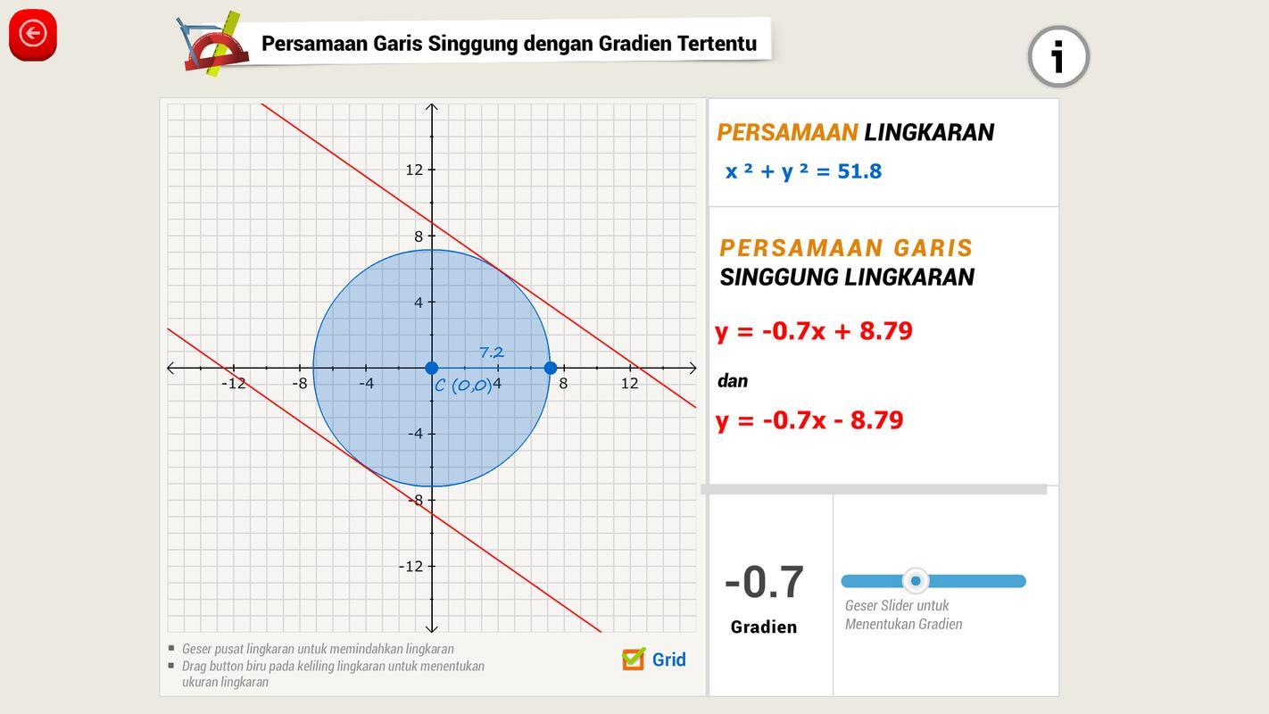 Matematika sma persamaan lingkaran apk baixar grtis educao matematika sma persamaan lingkaran apk imagem de tela ccuart Choice Image