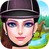 Horse Riding Girls Sunset Date icon