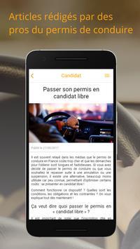 Candidat - Permis de conduire apk screenshot