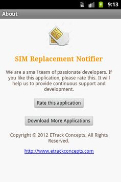 SIM Replacement Notifier apk screenshot