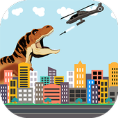 Dinosaur vs Helicopter Battle icon