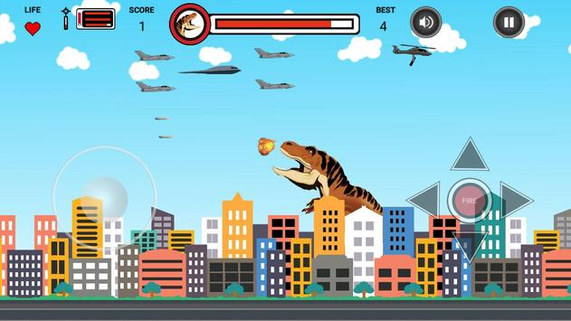 Dinosaur vs Helicopter Battle apk screenshot