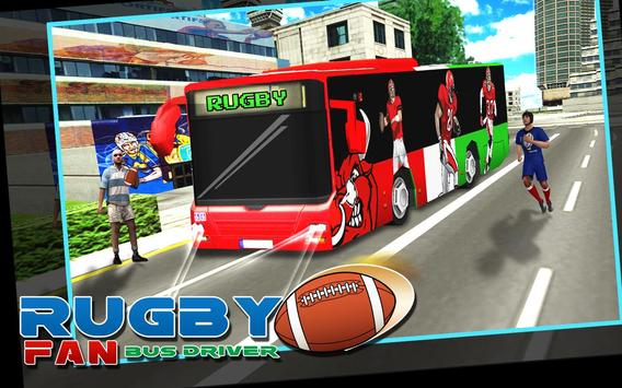 Rugby Fan Bus Driver poster