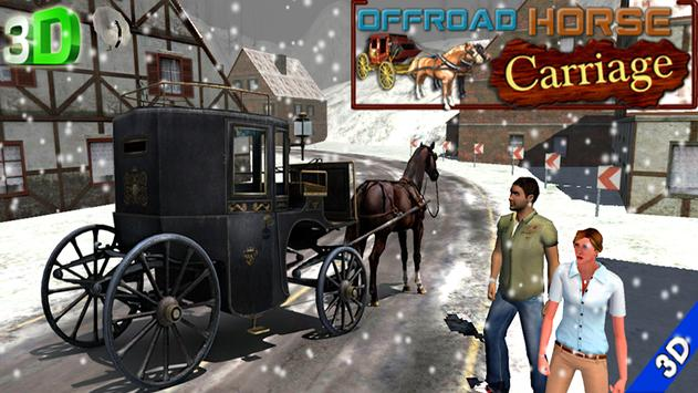 offroad horse carriage human transportation game poster