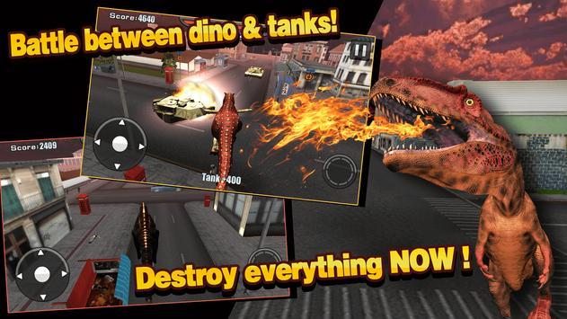 Real Dinosaur Tank Battle poster