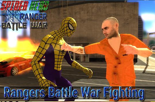 spider hero ranger battle war screenshot 3