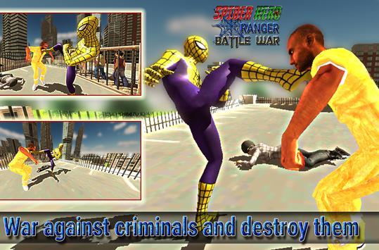 spider hero ranger battle war screenshot 12