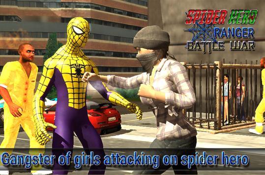 spider hero ranger battle war screenshot 1