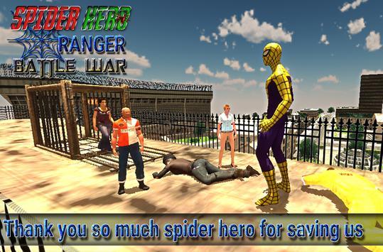 spider hero ranger battle war screenshot 23