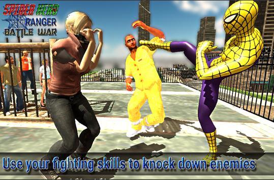 spider hero ranger battle war screenshot 2