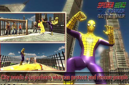 spider hero ranger battle war screenshot 6