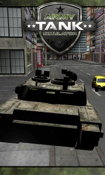 Battle Army Tank Simulator 3D poster