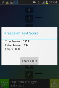 Kraepelin Test apk screenshot